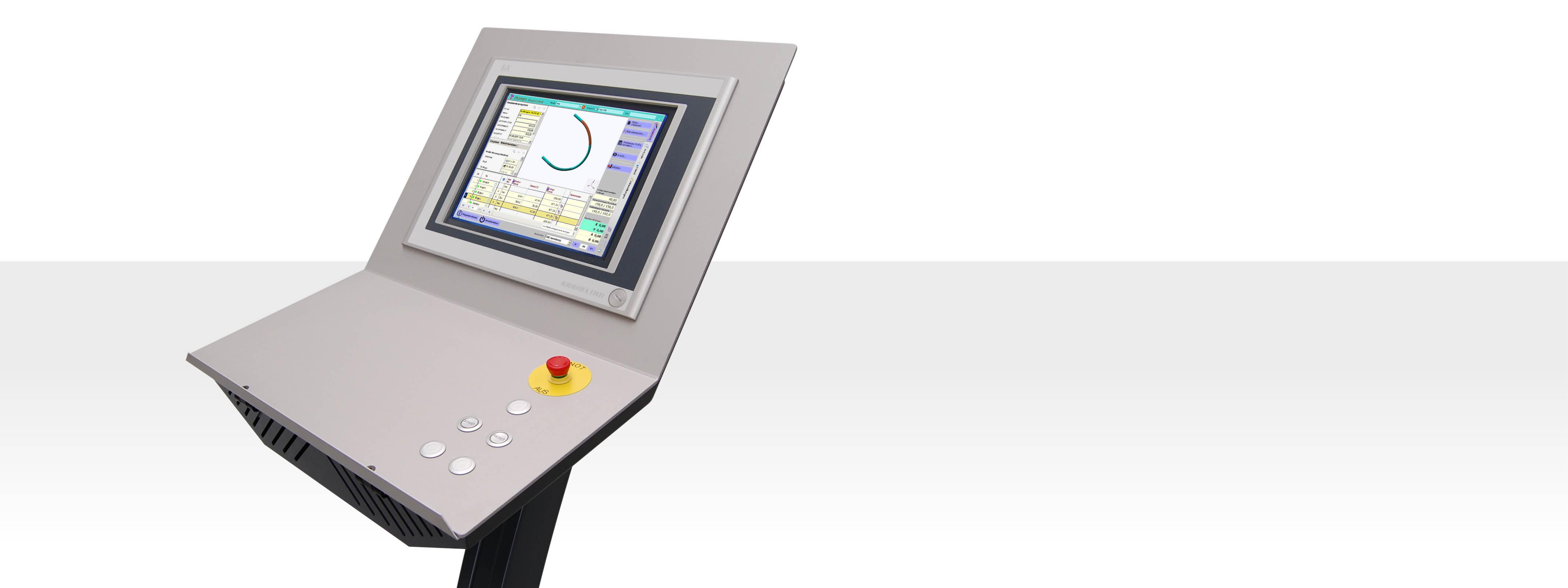 CNC-S Steuerungstechnologie für Profilbiegemaschinen - Thoman Biegemaschinen